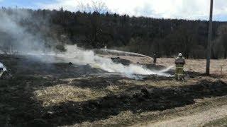 Очередной природный пожар произошел в Нуримановском районе республики