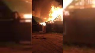 Крупный пожар в Уфе тушили 5 часов