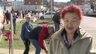 Жители Кумертау вышли на городские субботники для облагораживания территорий