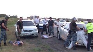 ОМОН скрутил налётчиков на автобус оперативная съёмка