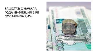 БАШСТАТ: С НАЧАЛА ГОДА ИНФЛЯЦИЯ В РБ СОСТАВИЛА 2,4%