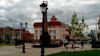 """Площадь перед кинотеатром """"Салават"""" в городе Стерлитамак"""