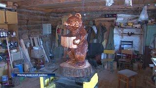 Художник из поселка Нугуш создает деревянные поделки, ставшие символом нацпарка «Башкирия»