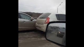 Массовое ДТП на пр. Салавата Юлаева в Уфе | Ufa1.RU