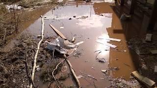 Затопило участок//Большая вода//приплыли//Семья в деревне//Городская деревня