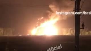 Жителей поселка Юматово под Уфой и соседних поселений напугал огненный столб