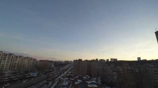 Timelapse съемка. Вечерняя Уфа Башкортостан.