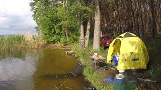 Рыбалка 1 июня 2020.Рыбалка на фидер на Осколе с ночевкой
