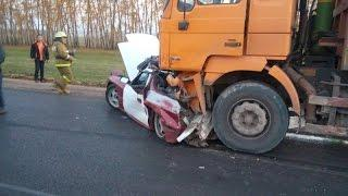ДТП на трассе в Кармаскалинском районе - грузовик смял легковушку