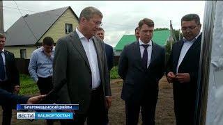 Радий Хабиров посетил Благовещенский район