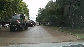 Военная техника на улицах Благовещенска РБ
