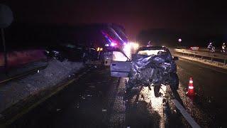 Под Калугой неадекватный водитель Hyundai  спровоцировал аварию