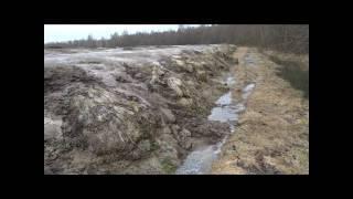 Истоки реки Печегда, отходы птицефабрики.
