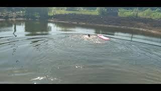 Первый заплыв на озере