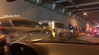 Массовая авария в Уфе: 12 машин столкнулись в тоннеле на проспекте Салавата Юлаева
