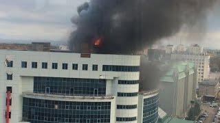 Крупный пожар в Уфе на ул.Зорге 30.09.2016