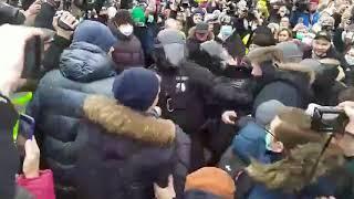 В Москве столкновения с полицией , акции протеста, 23 января, митинг, протесты СВОБОДУ НАВАЛЬНОМУ