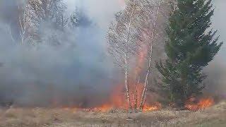 Крупный природный пожар в Башкирии