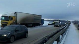 В Башкирии непогода спровоцировала сразу несколько массовых аварий.
