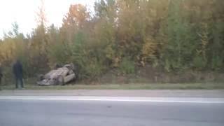 Авария. Перевернулась машина под мостом возле Полиэф