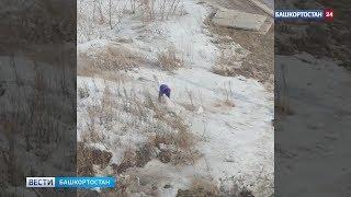В Башкирии бабушка решила помочь коммунальщикам и вышла на уборку города