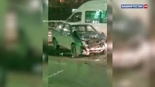 В Уфе при выезде из АЗС иномарка столкнулась с «четырнадцатой», есть пострадавшие