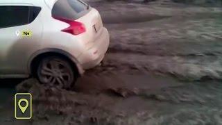 На улицах Уфы начался весенний потоп