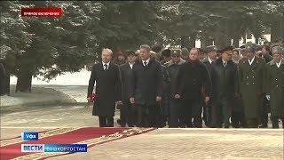 Радий Хабиров принял участие в торжественной церемонии в честь Дня защитника Отечества в Уфе