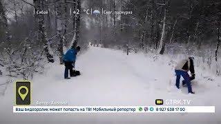 В Белебее коммунальщики каждый день засыпают лыжню, на которой тренируются спортсмены