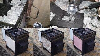 Быстрица 2019. Банная печь 8мм 09Г2С : дешёво, надёжно и красиво: облицовка просто плиткой