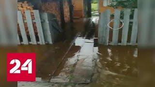 Реки вышли из берегов: в Хабаровском крае 42 дома оказались подтоплены - Россия 24