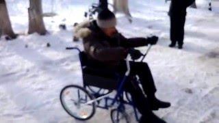 Кумертау - первый выезд / Испытание инвалидной коляски с ручным приводом