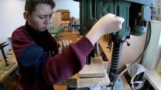 Минициркулярка из дрели. Проект на олимпиаду по технологии.