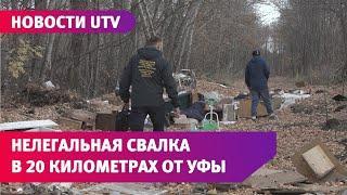 Экоактивист обнаружил нелегальную свалку в лесу рядом с Уфой. Мусор там закапывают в землю