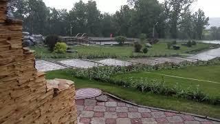 Санаторий Янган-тау (Горящая гора) , Башкирия . Майский дождь.