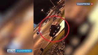 Ночью в Уфе хулиганы за рулем «Нивы» проехались по лестнице перед телецентром