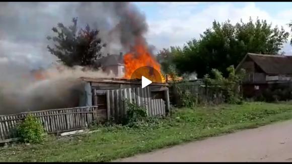 Давлеканово в СУ-3 горят сараи