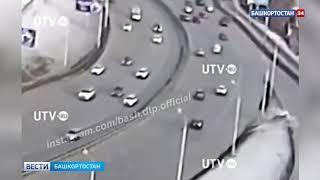 Шансов выжить не было: публикуем видео момента смертельного ДТП с водителем такси в Уфе