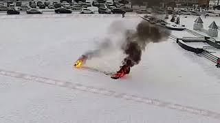 Ишимбай  сгорел  человек