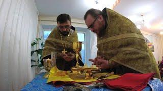 Первая божественная литургия в доме престарелых г. Ишимбай