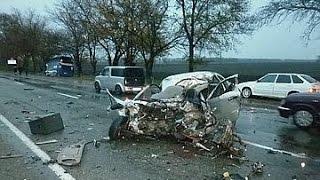 #5 Встречка! Жесть ДТП ,Car Crash Compilation страшные ДТП декабрь 2015