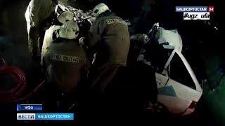 Залетел под фуру: в Уфе столкнулись грузовик и легковушка, есть погибший