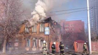 В Уфе сгорел деревянный дом