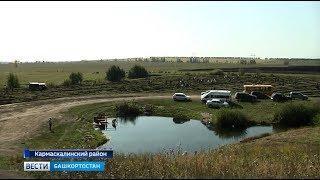Рядом с Голубым озером в Кармаскалинском районе высадили 12 тысяч сеянцев деревь