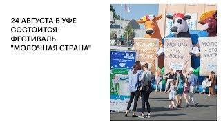 """24 АВГУСТА В УФЕ СОСТОИТСЯ ФЕСТИВАЛЬ """"МОЛОЧНАЯ СТРАНА"""""""